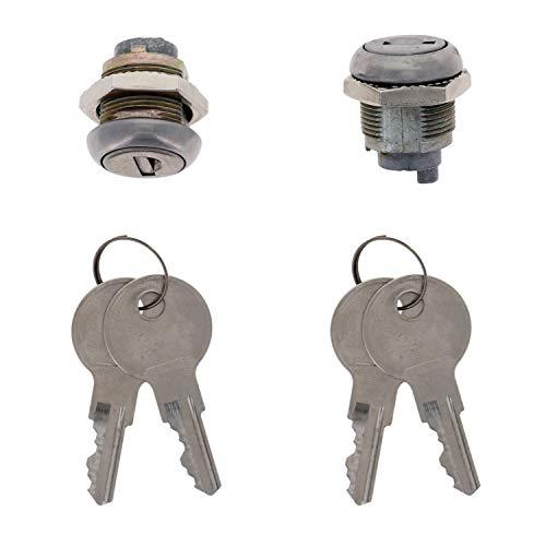 TCH Hardware 2 Pack Cam Lock Cylinder & 4 x CH501 Keys - No Pawl