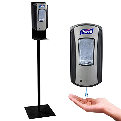 """Hand Sanitizer Dispenser, Automatic, 1200 ml capacity, with Steel 48"""" Hand Sanitizer Stand, Touchless Hand Sanitizer Dispenser"""