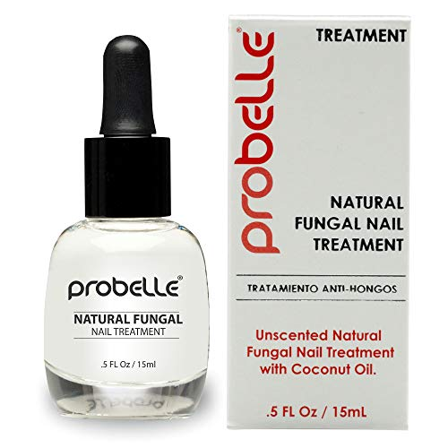 Probelle Natural Fungal Nail Treatment, Anti Fungal Nail Treatment, Nail Color Restoration, Clear Homeopathic Topical Solution .5 oz/ 15 ml (Patented Formula)