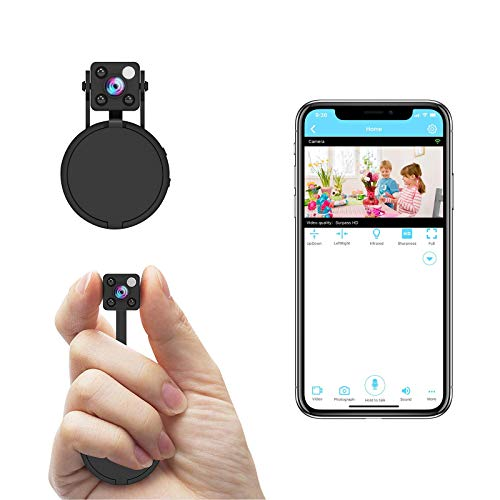 Mini Spy Camera WiFi, Relohas HD 1080P Spy Camera Wireless Hidden Live Streaming, Upgraded Night Vision/ Motion Activated Spy Cam Nanny Cam, Security Camera for Home and Outdoor (with Cell Phone APP)