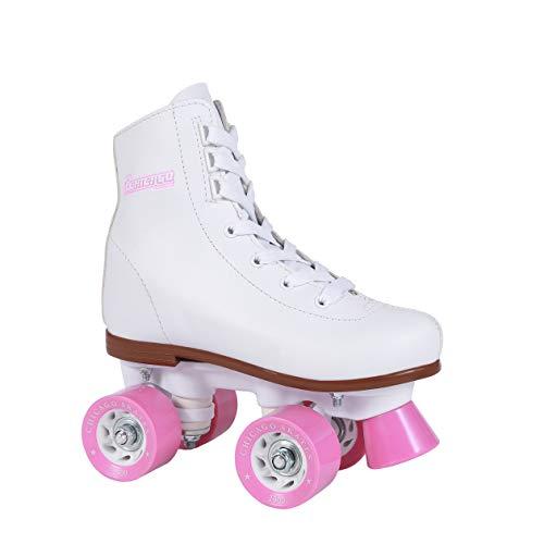 Chicago Girls Rink Roller Skate - White Youth Quad Skates - Size 4