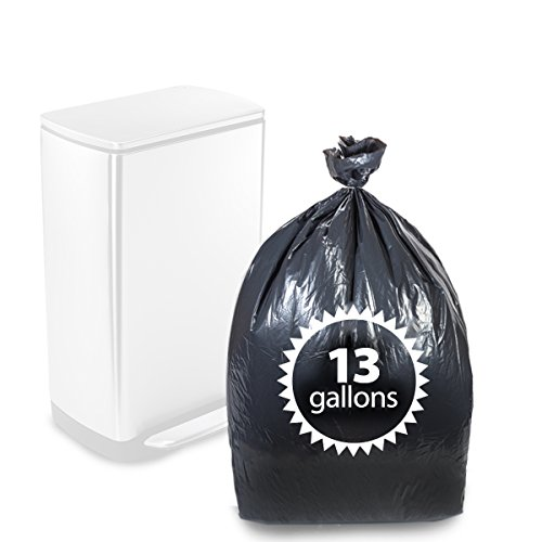 "Primode Tall Kitchen Trash Bags Black 13 Gallon 200 Count Heavy Duty Garbage Bag 24"" X 31"" Made in The USA"