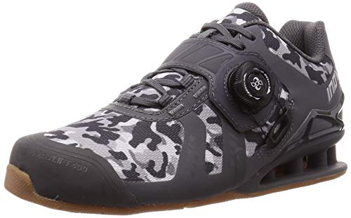 Inov-8 Lifting Womens Fastlift 400 BOA - Weight Lifting Shoes - Camo Edition - Grey/Gum 8 W US