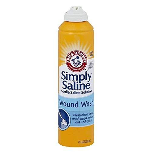 Simply Sterile Saline Wound Wash Spray - 7 oz, Pack of 6