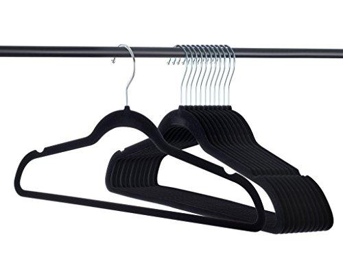 Home-it 100 PACK Premium Velvet Hangers Heavy Duty Clothes Hook Swivel 360-Ultra Thin