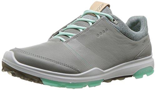ECCO Women's Biom Hybrid 3 Gore-Tex Golf Shoe, Wild Dove/Emerald Yak Leather, 39 M EU (8-8.5 US)
