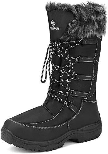 DREAM PAIRS Women's Maine Black Knee High Winter Snow Boots Size 9 M US