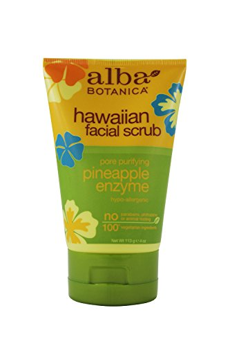 Alba Botanica Alba botanica pore purifying pineapple enzyme hawaiian facial scrub, 4 ounce tubes by alba botanica [beauty]