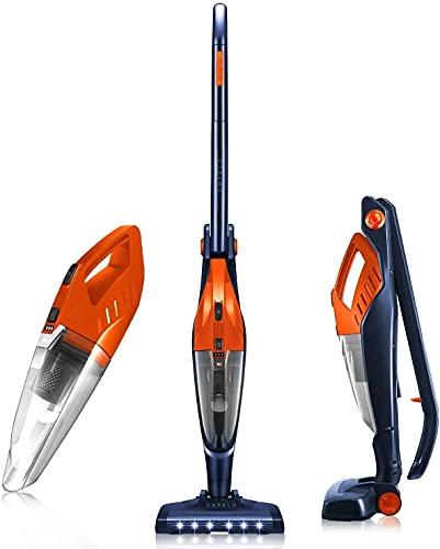 Cordless Vacuum, ORFELD Stick Vacuum Cleaner 4 in 1 Lightweight, Upright Vacuum Cleaner, Up to 40 Mins Runtime, Excellent for Hardwood Floor Carpet Pet Hair Car