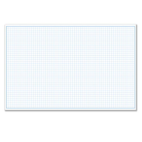 11x17' / Quadrille Grid Blueprint and Graph Paper (5 Pads, 50 Sheets Per Pad)