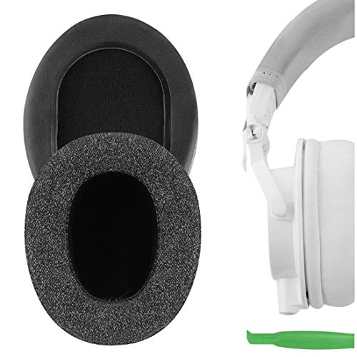 Geekria Comfort Linen Ear Pads for Audio Technica ATH-M50X M10X M20X M30X M40X ATH-ANC9 Headphones, Replacement Ear Cushion/Ear Cups/Ear Cover, Headset Earpads Repair Parts (Dark Grey)