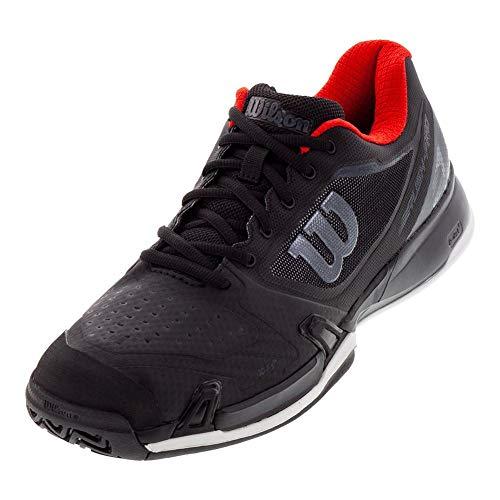 Wilson RUSH PRO 2.5 2019 Tennis Shoes, Black/ Ebony/ Wilson Red, 8