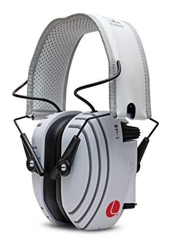 Lucid Audio AMPED Sound Amplifying Hearing Headphones - White/Gray On-The-Ear (Hearing protection, headphones, hearing enhancement, hearing amplifier, sound reduction, tv enhancement, noise reduction)