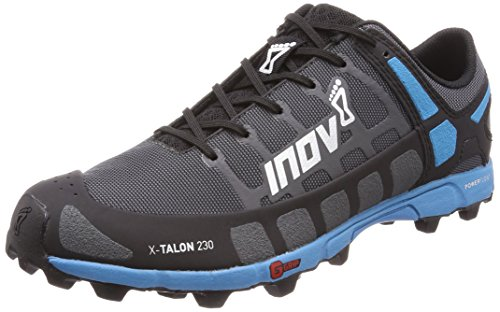 Inov-8 Mens X-Talon 230 - Lightweight OCR Trail Running Shoes - for Spartan, Obstacle Races and Mud Run - Grey/Blue 8 M US