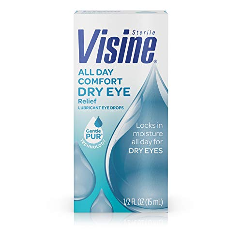 Visine All Day Comfort Dry Eye Relief Eye Drops for Up to 10 Hrs of Comfort, 0.5 fl. oz