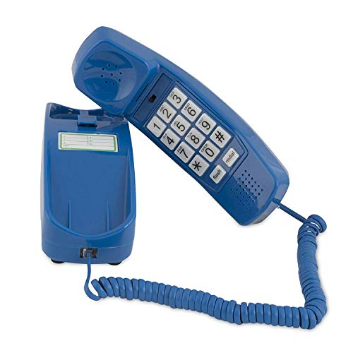 Corded Phone - Phones for Seniors - Phone for Hearing impaired - Choctaw White - Retro Novelty Telephone - an Improved Version of The Princess Phones in 1965 - Style Big Button