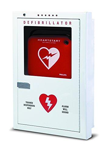 Philips HeartStart PFE7023D Semi-Recessed Defibrillator Cabinet, Beige, 16.5? (42 cm) w, 24.5? (62 cm) h, 2.5? (6 cm) d