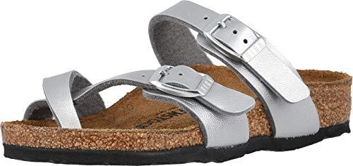 Birkenstock Kids Mayari Sandal Silver Birko-Flor Size 34 N EU / 3-3.5 N US Big Kid