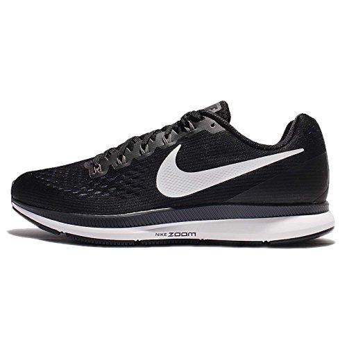 Nike Men's Air Zoom Pegasus 34 Running Shoe Black/White-Dark Grey-Anthracite 11.0