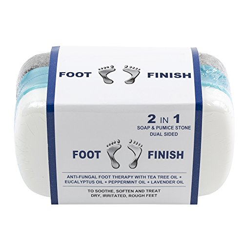 Athletes Foot Treatment Pumice Stone for Itchy Feet by Love Lori - 2 in 1 AntiFungal Foot Soap and Callus Remover – Tea Tree Oil Foot Scrubber Exfoliator