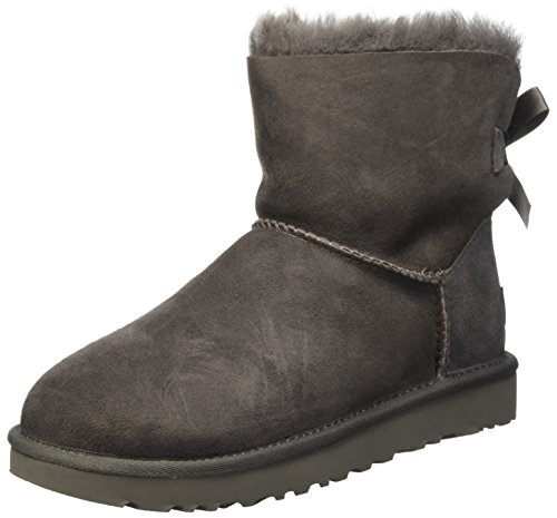 UGG Women's Mini Bailey Bow II Boot, Grey, 6