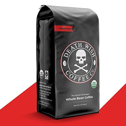 Death Wish Organic USDA Certified Whole Bean Coffee, 16 oz
