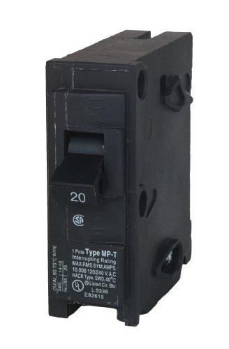 MP120 20-Amp Single Pole Type MP-T Circuit Breaker