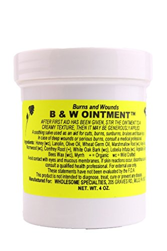 B & W (Burn and Wound) Ointment, 4 Oz. Container