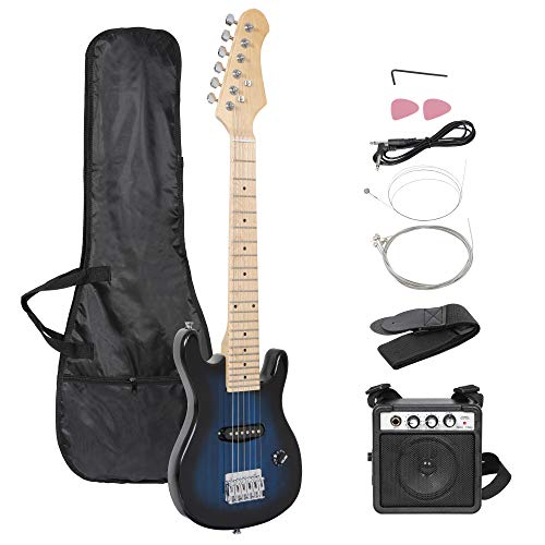 Smartxchoices 30' Kids Electric Guitar with 5W Amplifier,Picks, Gig Bag, Strap, Cable & Accessory Kit