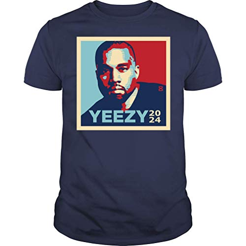 Kanye 2024 Kanye for President Vintage T-Shirt (Unisex T-Shirt;Navy;XL)