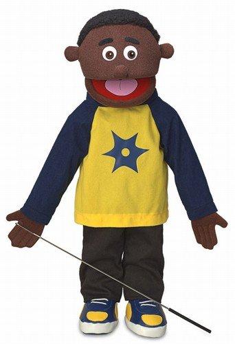 25' Jordan, Black Boy, Full Body, Ventriloquist Style Puppet