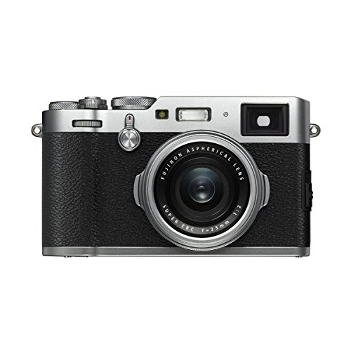 Fujifilm X100F 24.3MP Digital Camera, Fujinon 23mm f/2 Lens, Silver- Bundle with 32GB SDHC Card, Camera Case, Table Top Tripod, Cleaning Kit, Memory Card Case, Card Reader, Software Package