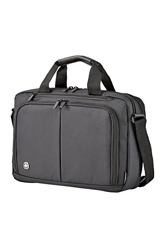 Wenger Luggage Source Padded Organizer Briefcase with Scratch Protection, Black, 14-inch