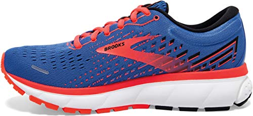 Brooks Womens Ghost 13 Running Shoe - Blue/Coral/White - B - 9.5