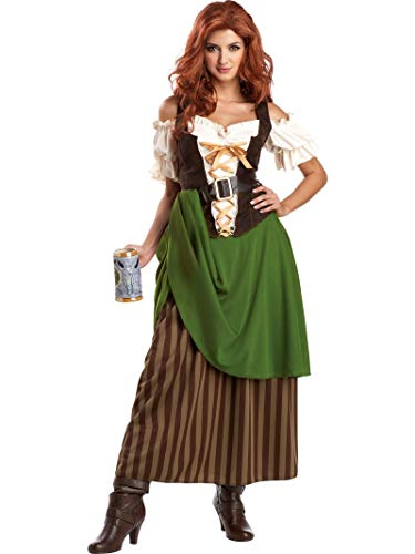 California Costumes Tavern Maiden Adult Costume, Olive/Brown, Large