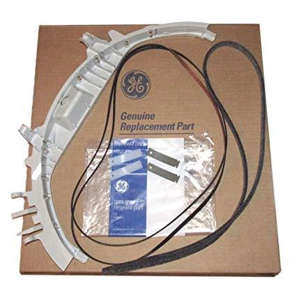 GE Dryer Bearing Kit 1 Bearing WE3M26, 2 Dryer Slides WE1M481 / WE1M1067, 2 Dryer Slides WE1M333 / WE1M504, 1 Belt WE12M29, 1 Felt WE9M30 / WE09X20441