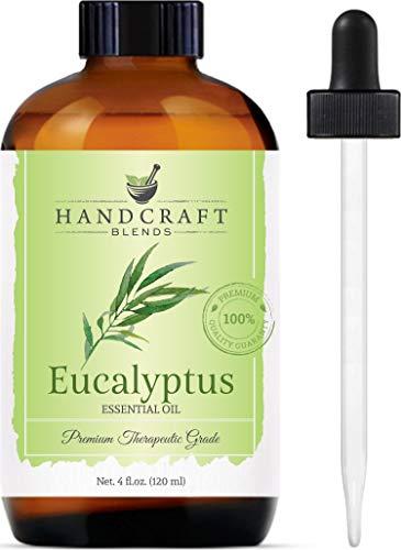 Handcraft Eucalyptus Essential Oil - 100% Pure and Natural - Premium Therapeutic Grade with Premium Glass Dropper - Huge 4 fl oz