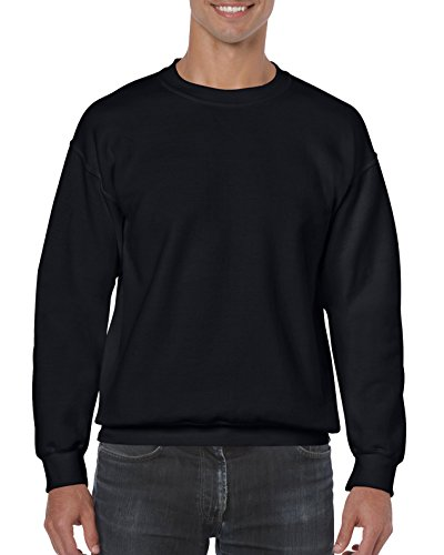 Gildan Men's Heavy Blend Crewneck Sweatshirt - Medium - Black