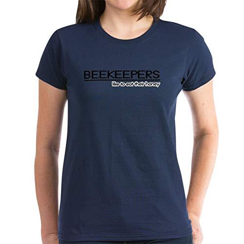 CafePress Beekeeper Joke Women's Dark T Shirt Womens Cotton T-Shirt Navy