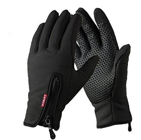 YYGIFT Touch Screen Gloves Outdoor Sports Winter Gloves Wind-Stopper for Men Women (Updated Version-Black, L)