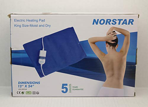 OVERSEAS USE ONLY Norstar 200 KING SIZE Moist & Dry Heating Pad 220-240 Volt