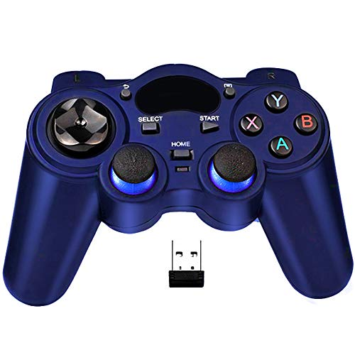 USB 2.4G Wireless Controller, Gaming Controller Gamepad for Playstation 3 / Laptop Computer (Windows XP / 7/8 / 10) & PC & Android & steam