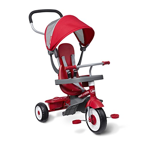 Radio Flyer 4-in-1 Stroll 'N Trike, Red Toddler Tricycle for Ages 9 Months -5 Years, 19.88' x 35.04' x 40.75'