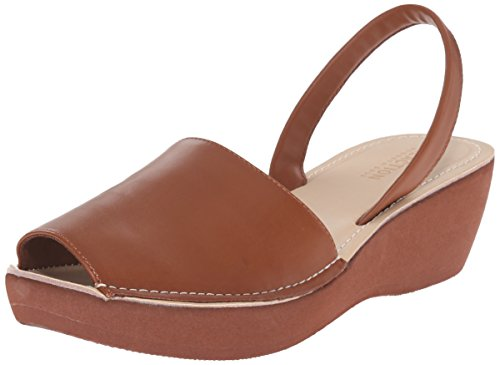 Kenneth Cole REACTION Women's Fine Glass Wedge Sandal, Luggage, 7.5 M US