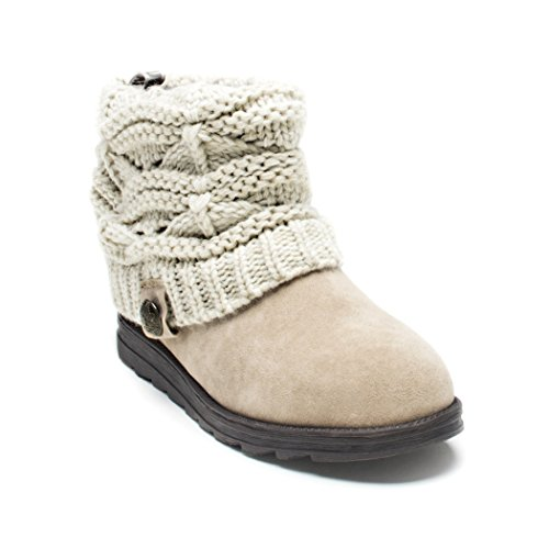 MUK LUKS Women's Patti Boots - Light Beige (10 Wide)