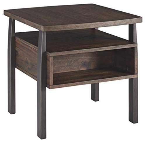 Signature Design by Ashley Vailbry Rectangular End Table Brown