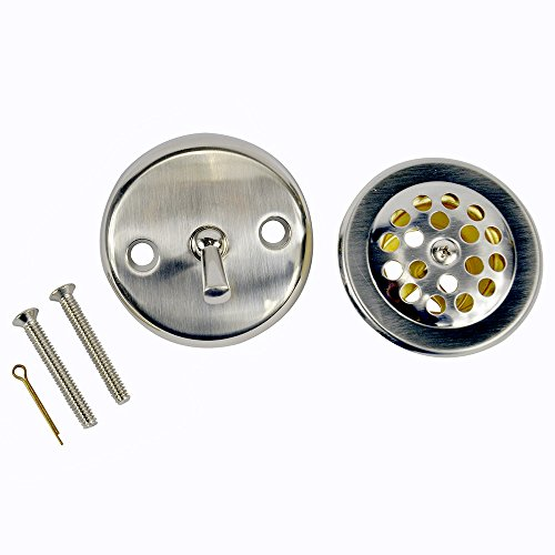 Danco 89242 Trip Lever Tub/Bath Drain and Overflow Trim Kit/Plate in Brushed Nickel