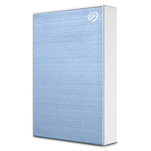 Seagate Backup Plus 5TB External Hard Drive Portable HDD – Light Blue USB 3.0 for PC Laptop and Mac, 1 year MylioCreate, 2 Months Adobe CC Photography, 2-Year Rescue Service (STHP5000402)