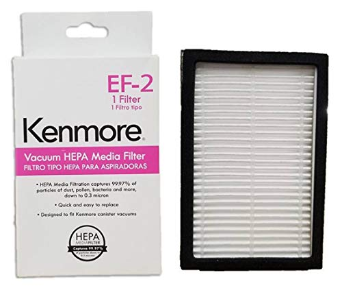Kenmore EF-2 (86880) EF2 20-86880 KC38KBRMZ000 MC-V194H 40320 HEPA Media Vacuum Cleaner Exhaust Air Filter for Upright and Canister Vacuums