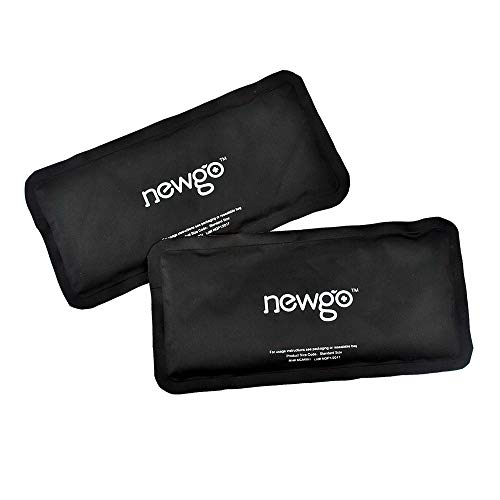 NEWGOCold Pack for Injury Reusable Clay Ice Pack 2 Pack Hot Cold Pack Therapy for Head Neck Ankle Wrist Elbow Arm Pain Relief - 9.84' x 4.92'